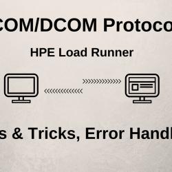 COM/DCOM Protocol - Recording Tips & Tricks, Error Handling